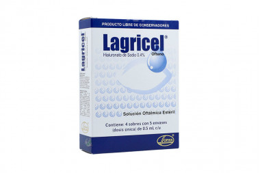 Lagricel Ofteno Solucion Caja Con 20 Envases Con 0.05 mL