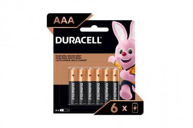 Duracell Pila AAA Alkalina Empaque Con 6 Unidades