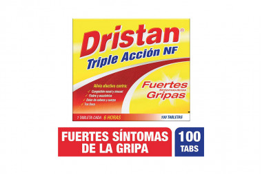 Dristan Triple Acción NF Caja Con 100 Tabletas