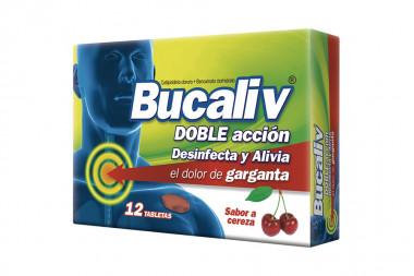 Bucaliv Doble Acción Cereza Caja Con 12 Tabletas