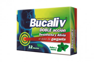 Bucaliv Doble Acción Menta Caja Con 12 Tabletas