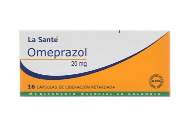 Omeprazol 20 mg Caja Con 16 Cápsulas