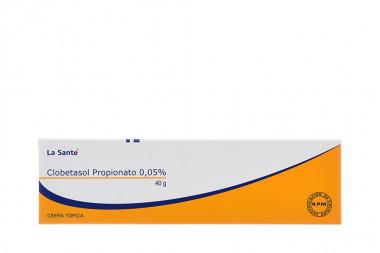Clobetasol Propionato 0.05 % Crema Tópica Caja Con Tubo Con 40 g