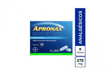 Apronax 275 mg Caja Con 8 Tabletas Recubiertas