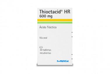 Thioctacid Hr 600 mg Caja Con Frasco Con 30 Tabletas Recubiertas