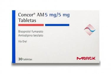 Concor AM 5 / 5mg Caja Con 30 Tabletas