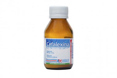 Cefalexina Polvo 250 mg Frasco Con 60 mL
