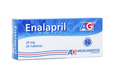 Enalapril 20 mg Caja Con 30 Tabletas - American Generics