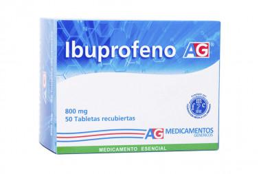 Ibuprofeno 800 mg Caja Con 50 Tabletas Recubiertas - American Generics