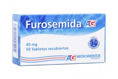 Furosemida 40 mg Caja Con 50 Tabletas