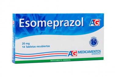 Esomeprazol AG 20 mg Caja Con 14 Tabletas Recubiertas