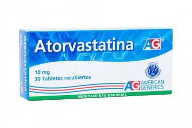 Atorvastatina 10 mg Caja Con 30 Tabletas Recubiertas