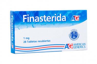 Finasterida 1 mg Caja Con 28 Tabletas Recubiertas