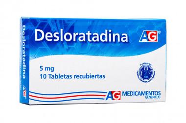 Desloratadina 5 mg Caja Con 10 Tabletas Recubiertas - American Generics
