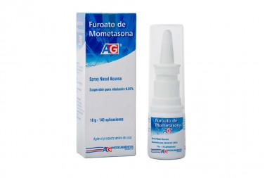 Furoato De Mometasona Suspensión Para Inhalación 0.05 % Caja Con Spray con 18 g