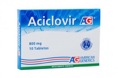 Aciclovir 800 mg Caja Con 10 Tabletas – American Generics