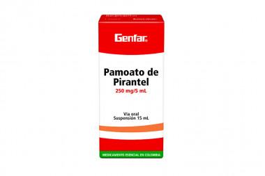 Pamoato De Pirantel Suspensión Oral 250 mg / 5 mL Caja Con Frasco Con 15 mL
