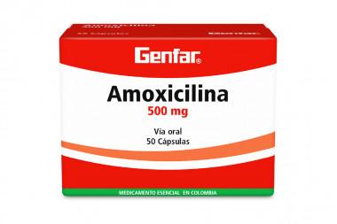 Amoxicilina 500 mg Caja Con 50 Cápsulas