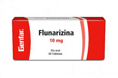 Flunarizina 10 mg Caja Con 30 Tabletas