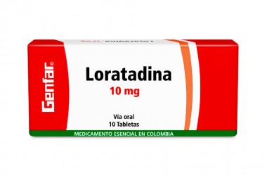 Loratadina 10 mg Caja Con 10 Comprimidos