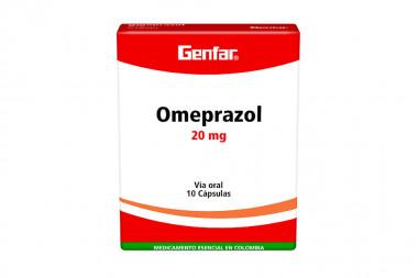 Omeprazol 20 mg Caja Con 10 Cápsulas