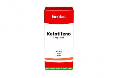 Ketotifeno Genfar 1 mg / 5mL Jarabe Caja Con Frasco Con 100 mL