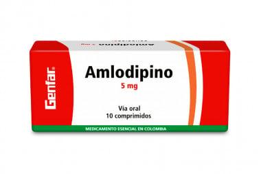 Amlodipino 5 mg Caja Con 10 Comprimidos - Sanofi Aventis