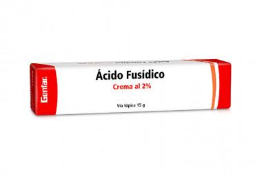 Ácido Fusídico 2% Crema Caja Con Tubo Con 15 g
