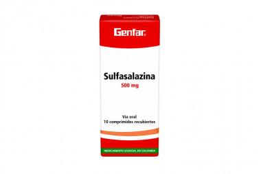 Sulfasalazina 500 mg Caja Con 10 Tabletas Cubiertas - Sanofi Aventis