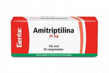 Amitriptilina 25 mg Caja Con 30 Comprimidos - Antidepresivo
