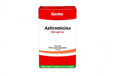 Azitromicina 200 mg / 5 mL Polvo Para Suspensión Caja Con Frasco Con 15 mL