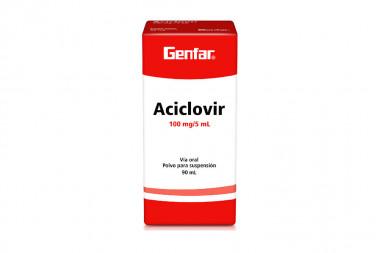 Aciclovir 100 mg / 5 mL Polvo para Suspensión Caja Con Frasco Con 90 mL