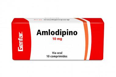 Amlodipino 10 mg Caja Con 10 Comprimidos