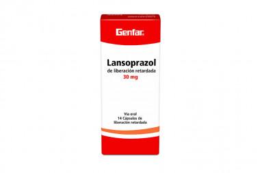 Lansoprazol 30 mg Caja Con 14 Cápsulas de Liberación Retardada