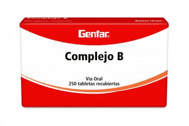 Complejo B Caja Con 250 Tabletas Recubiertas