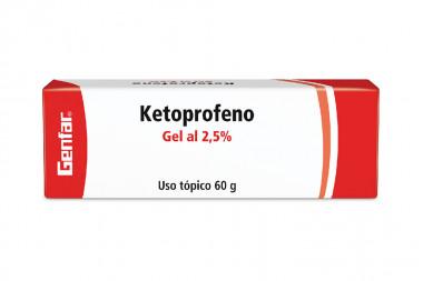 Ketoprofeno En Gel 2.5 % Caja Con Tubo Con 60 g