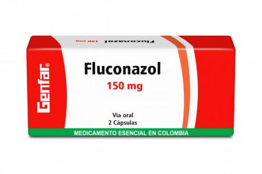 Fluconazol 150 mg Caja Con 2 Cápsulas