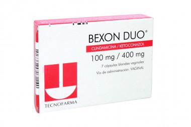 Bexon Duo 100 / 400 mg Caja Con 7 Cápsulas Vaginales