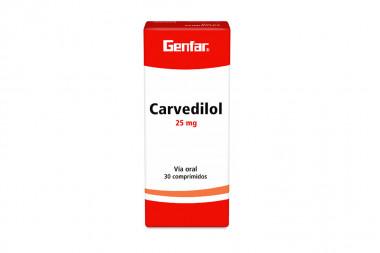 Carvedilol 25 mg Caja Con 30 Comprimidos