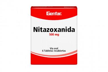 Nitazoxanida 500 mg Caja Con 6 Tabletas Recubiertas