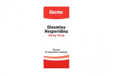 Diosmina Hesperidina 450/ 50 mg Caja Con 30 Comprimidos Recubiertos