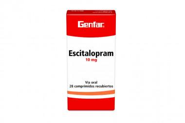 Escitalopram 10 mg Caja Con 28 Comprimidos Recubiertos