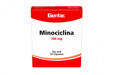 Minociclina Genfar 100 mg Caja Con 10 Cápsulas