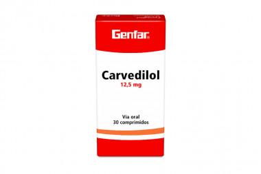 Carvedilol 12.5 mg Caja Con 30 Comprimidos