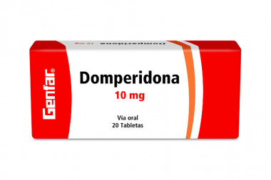 Domperidona Genfar 10 mg Caja Con 20 Tabletas