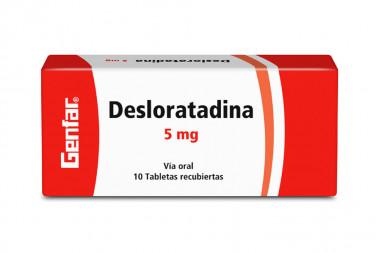 Desloratadina 5 mg Caja Con 10 Comprimidos Recubiertos - Genfar