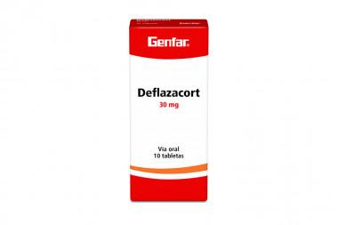 Deflazacort Genfar 30 mg Caja Con 10 Tabletas