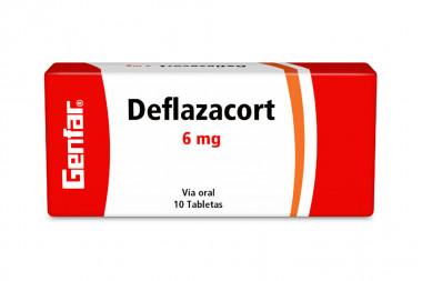 Deflazacort Genfar 6 mg Caja Con 10 Tabletas