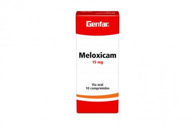 Meloxicam 15 mg Caja Con 10 Comprimidos