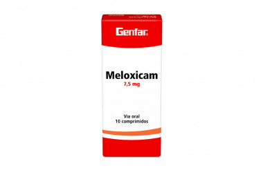 Meloxicam 7.5 mg Caja Con 10 Comprimidos
